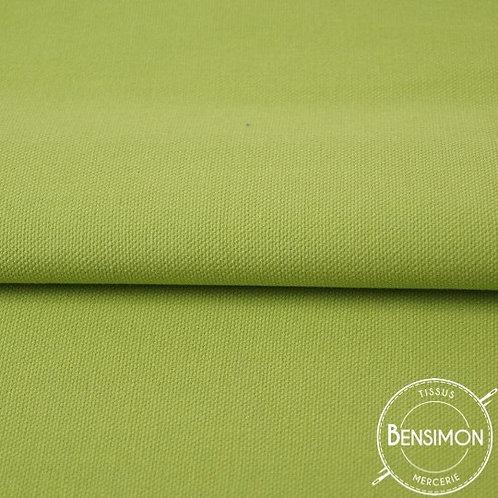 Tissu natté Gabardine Coton - Vert  X 50cm