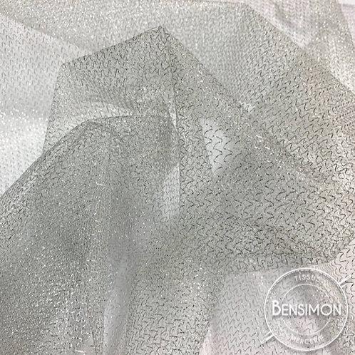 Tissu Tulle Lurex 560 - Argent X 1M