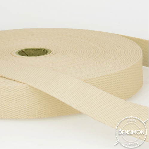 Sangle sac 100% coton 30mm écru