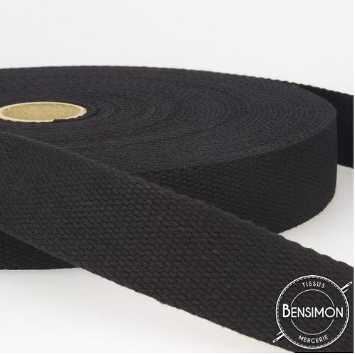 Sangle sac 100% coton 30mm noir