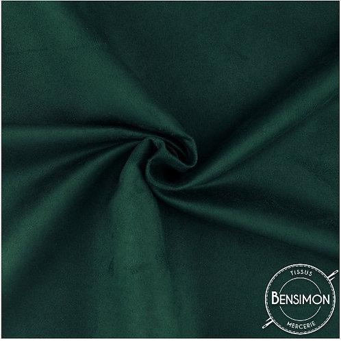 Tissu Suédine épaisse unie - Vert bouteille X 50cm