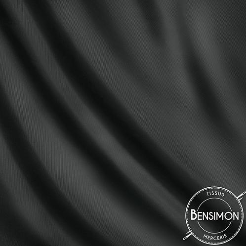 Tissu doublure satin - Gris anthracite X 50cm