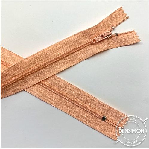 Fermetures nylon 3mm non séparables - Saumon 20 à 60cm