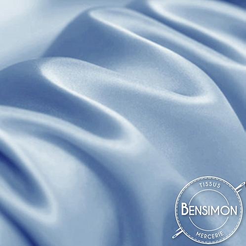 Tissu satin premium - Bleu Méditerranéen X 50cm