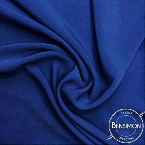 Tissu Crêpe - Bleu roi X 50cm