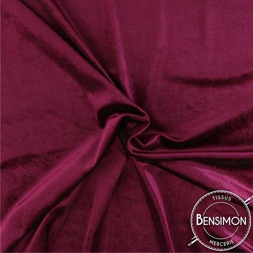 Tissu Velours - Fuchsia X 50cm