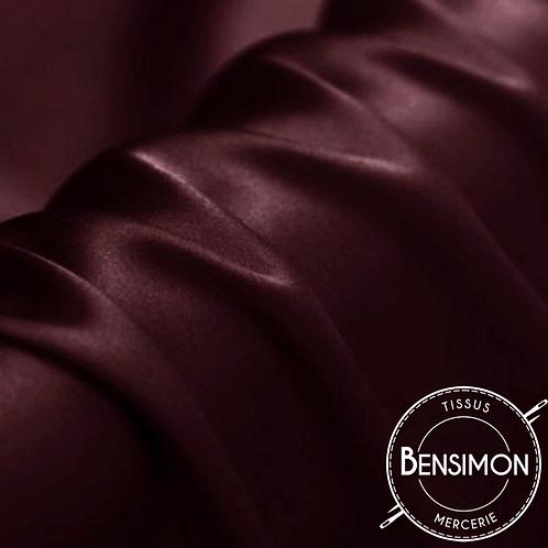 Tissu satin premium - Bordeaux X 50cm