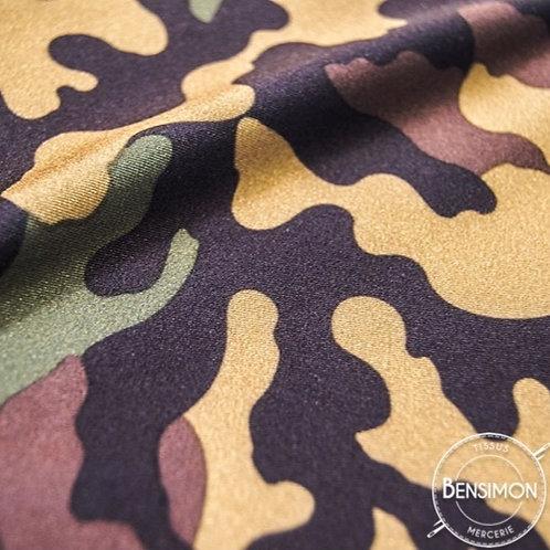 Tissu extensible Lycra stretch lamé brillant pailleté justaucorps académique danse army militaire