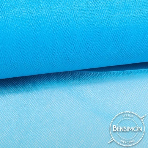 Tissu Tulle souple grande largeur - Turquoise Peacock X 1M