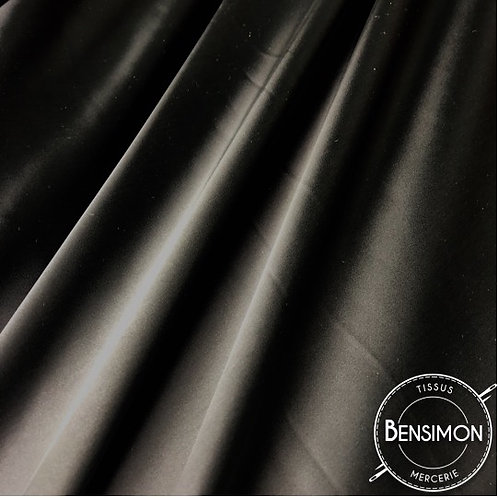 Tissu satin cocktail extensible - Noir X 50cm