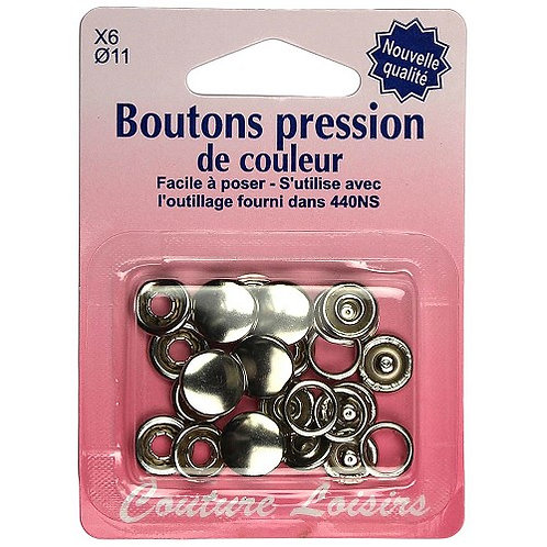 boutons pression 11mm