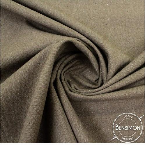 Tissu natté toile lourde - Taupe X 50cm