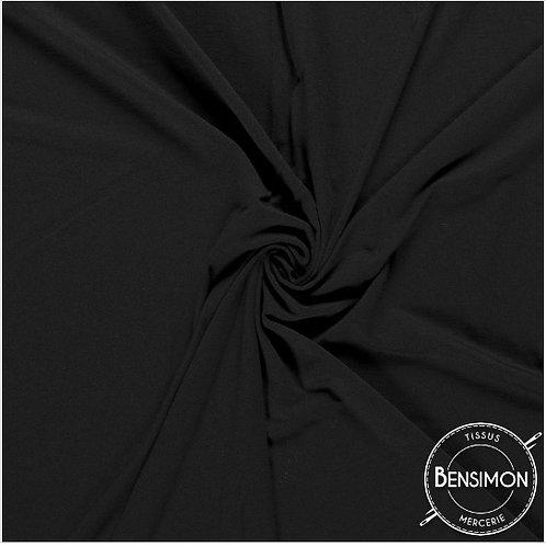 Tissu Jersey coton haut de gamme - Noir X 50cm
