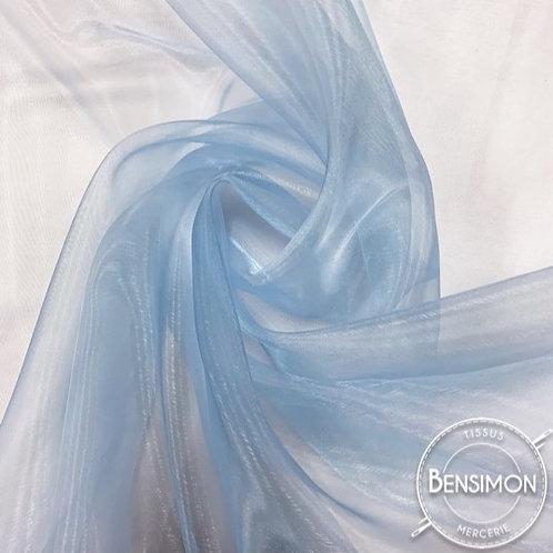 Tissu Organza - Bleu ciel X 50cm