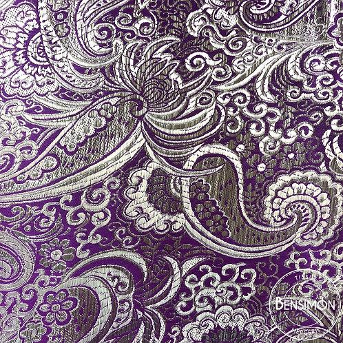 Tissu Brocart - Violet X 50cm