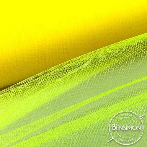 Tulle jaune fluo tutu raide grande largeur mariage