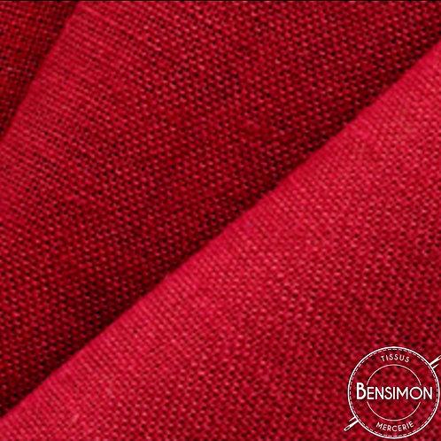 Tissu toile de Jute - Rouge X 50cm