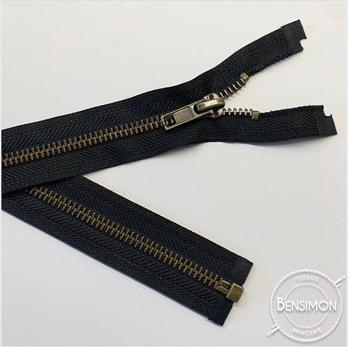 Fermeture métal 5mm séparable - Noir