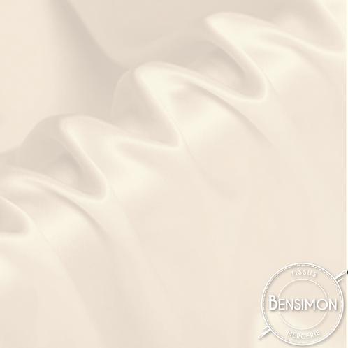 Tissu satin premium - Écru X 50cm