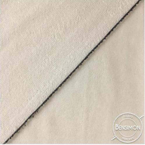 Tissu éponge Bambou OekoTex - Écru X 50cm