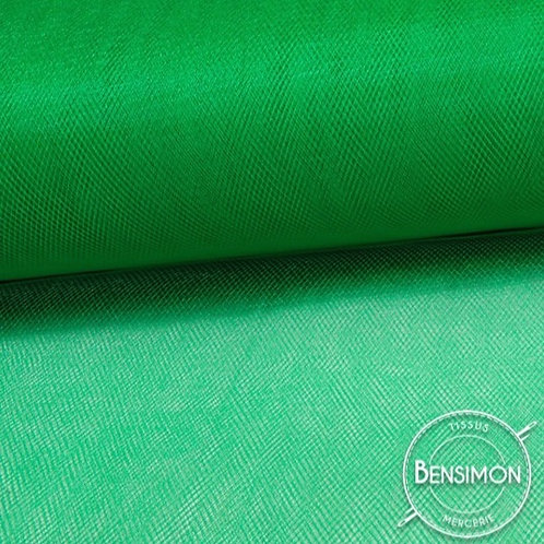 Tissu Tulle souple grande largeur - Vert Kelly X 1M