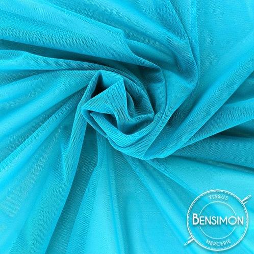 Tissu Tulle élasthanne résille - Turquoise X 1M