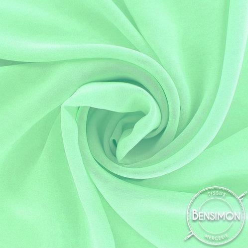 Tissu Mousseline - Vert d'eau X 50cm