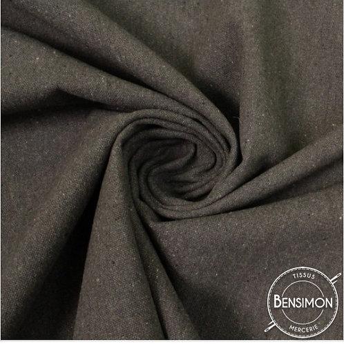 Tissu natté toile lourde - Gris Anthracite X 50cm