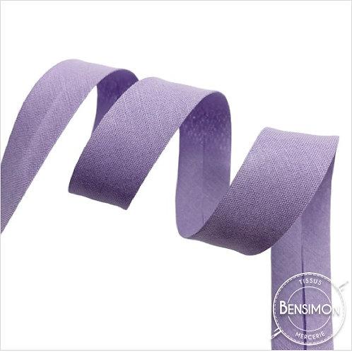 Biais coton replié 20mm - Parme n°1169