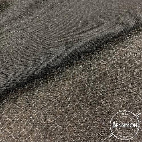 Entoilage thermocollant tissé coton - Noir X 50cm