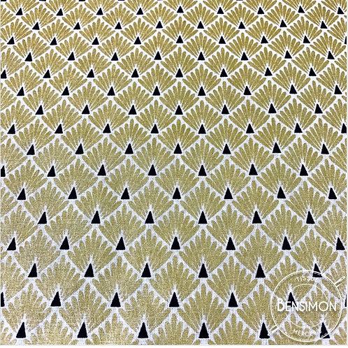 Tissu coton imprimés - Écailles dorées X 50cm