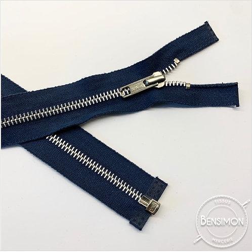 Fermeture métal YKK 5mm séparable - Bleu Marine