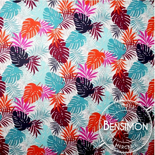 Tissu coton imprimés - Feuillages Altamira - Multico X 50cm
