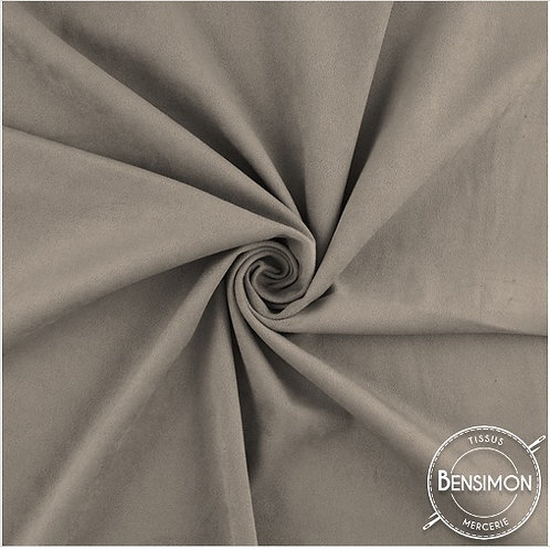 Tissu Suédine épaisse unie - Taupe X 50cm