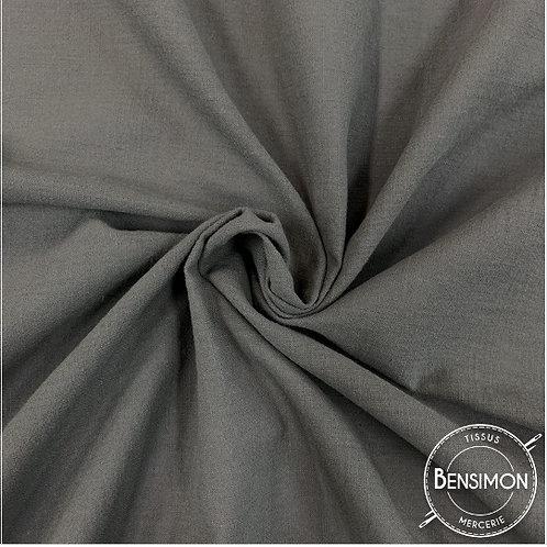 Tissu crêpe de coton uni - Anthracite X 50cm