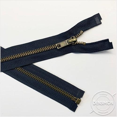 Fermeture métal 5mm séparable - Bleu Marine