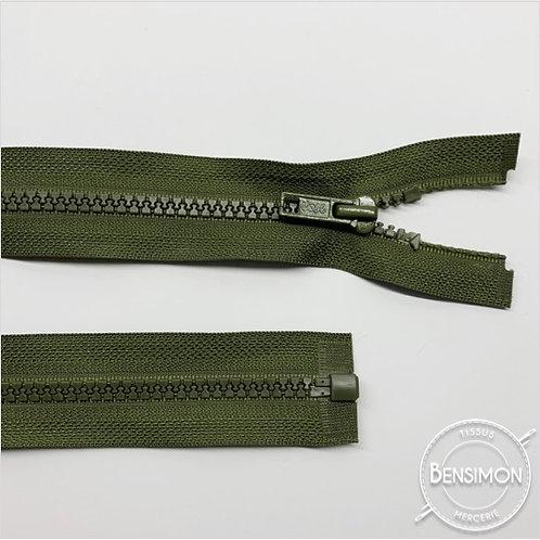 Fermeture injectée 5mm séparable - Kaki