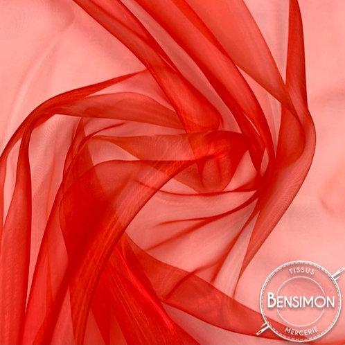 Tissu Organza - Rouge X 50cm