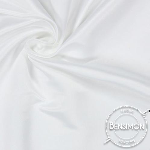 Tissu satin duchesse - Blanc X 50cm