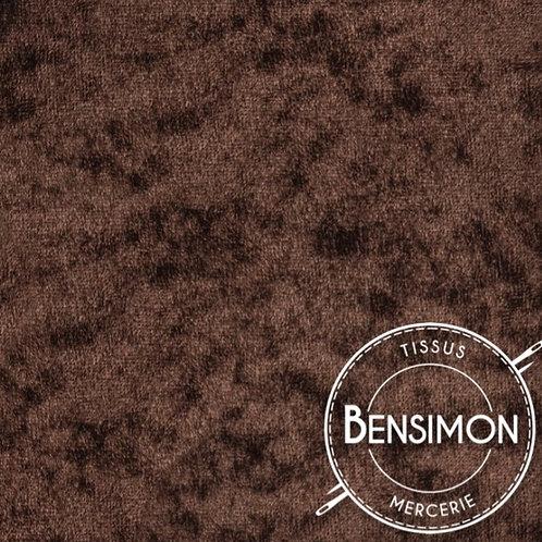 Tissu Panne de Velours - Marron X 50cm