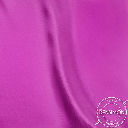 Tissu satin uni léger - Fuchsia X 50cm
