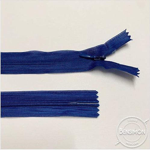 Fermeture invisible 4mm non séparable - Bleu roi