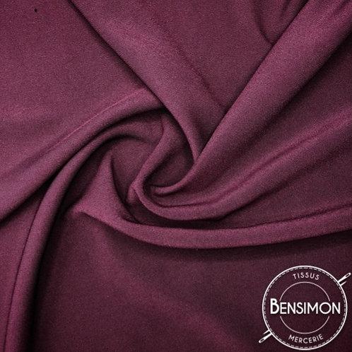 Tissu Crêpe - Bordeaux X 50cm