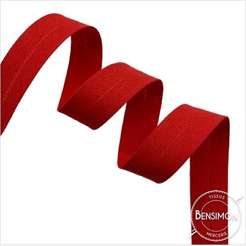 Biais coton replié 20mm - Rouge n°1088