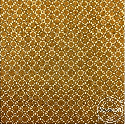 Tissu coton imprimés - Motif Emil moutarde X 50cm