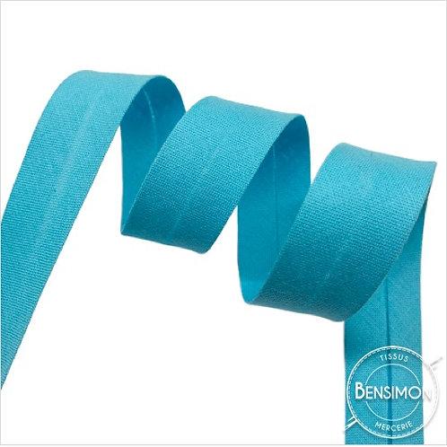 Biais coton replié 20mm - Turquoise clair n°1137