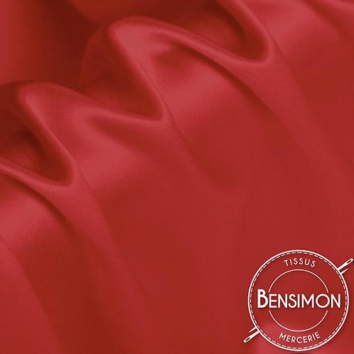 Tissu satin premium - Rouge X 50cm
