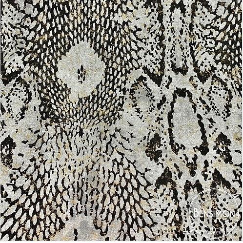 Tissu toile savoie 100% coton - Boa & Lurex X 50cm