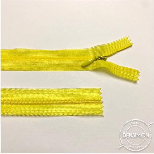 Fermeture invisible 4mm non séparable - Jaune citron
