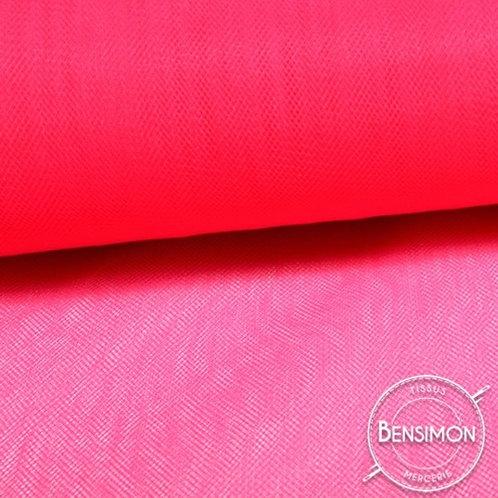 Tissu Tulle souple grande largeur - Fluo Cerise X 1M